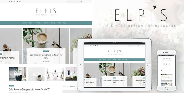 Elpis - A Simple Design For Bloggers - Personal Blog / Magazine