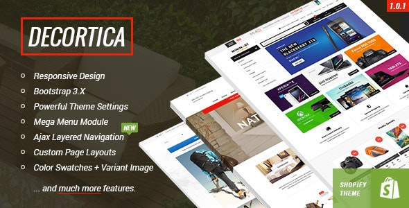 DECORTICA - Responsive Shopify Template - Shopping Shopify