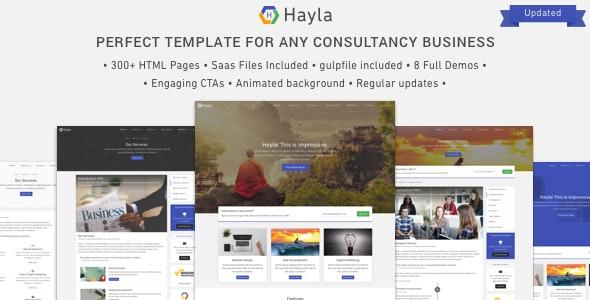 Hayla - Consultancy Business Website Template - Business Corporate