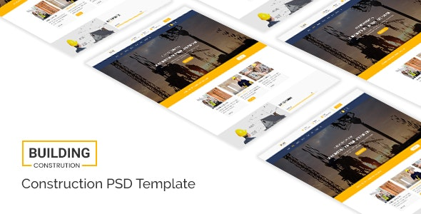Building - Construction PSD  Template - Business Corporate