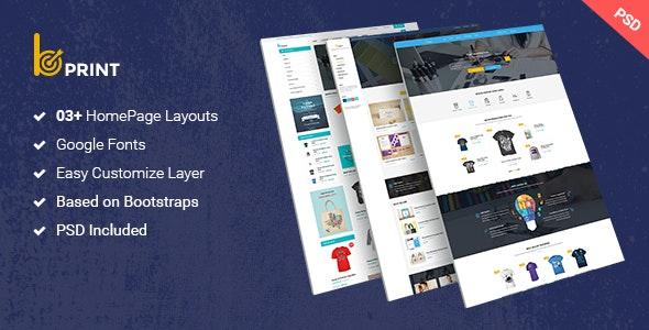 Bprint - Type Design & Printing Services PSD Theme - Creative Photoshop