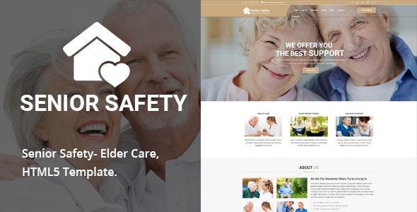 Senior Safety - Elder Care HTML5 Template - Health & Beauty Retail