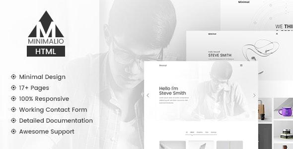 Minimalio - Personal / Portfolio Minimal Template - Portfolio Creative