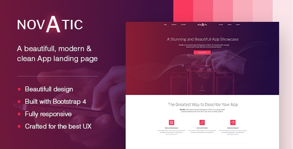 Novatic - App landing page - Marketing Corporate