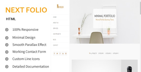 Next Folio - Creative and Minimal Portfolio HTML5 Template - Portfolio Creative
