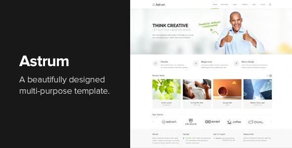 Astrum - Responsive Multi-Purpose HTML Template