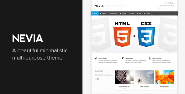Nevia - Responsive Multi-Purpose WordPress Theme - Business Corporate