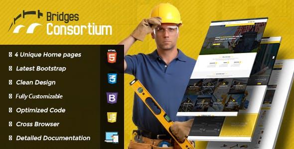 The Bridges Construction Building HTML Template
