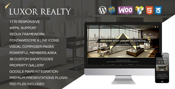 LUXOR - Responsive WordPress Real Estate Theme - Business Corporate