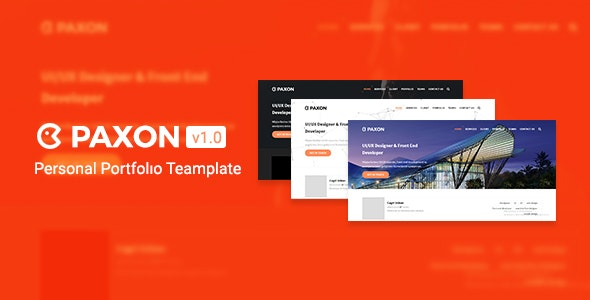 Paxon - Personal Portfolio Teamplate - Portfolio Creative