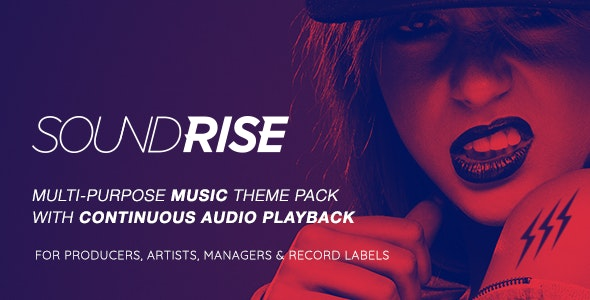 SoundRise - Artists, Producers and Record Labels WordPress Theme by