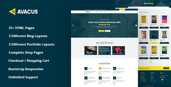 Avacus – Business Consulting and Agency Services HTML5 Template - Business Corporate
