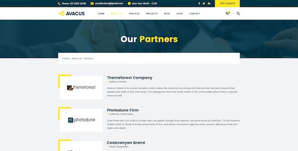 Avacus – Business Consulting and Agency Services HTML5 Template
