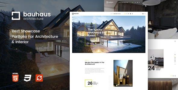 Bauhaus - Architecture & Interior Drupal 9 Theme by symphonythemes