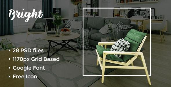 Bright - Furniture Store PSD Template - Business Corporate