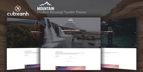 Mountain - Modern Personal Tumblr Theme - Blog Tumblr