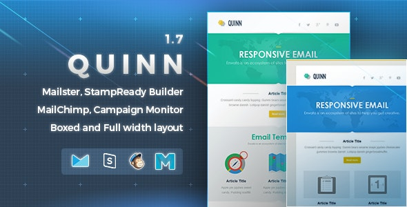 Quinn | Responsive Email Template - Newsletters Email Templates