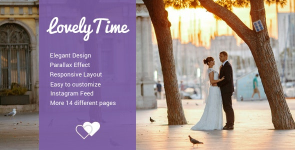 LovelyTime - Clean and Responsive HTML Wedding Template - Wedding Site Templates
