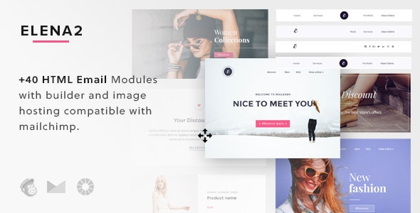 Elena 2 - Responsive Email Template + Builder - Email Templates Marketing