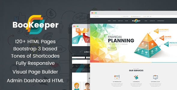BooKeeper - Finances & Accounting HTML Template with Builder