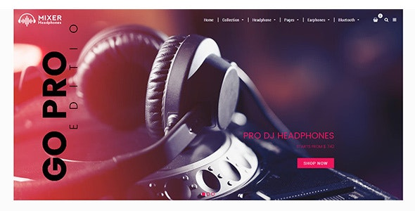 Mixer - Headphone and Audio Store Shopify Theme - Technology Shopify