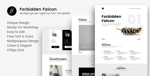 Forbidden Falcon – Multipurpose Agency PSD Template - Corporate Photoshop