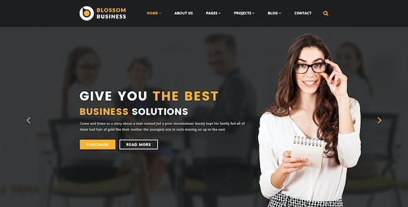 Blossom Business - Professional Business PSD Template