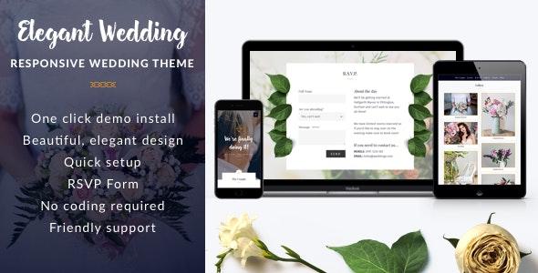 Elegant Wedding - Responsive WordPress Theme - Wedding WordPress