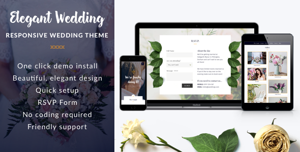 Elegant Wedding - Responsive Wedding WordPress Theme - Wedding WordPress