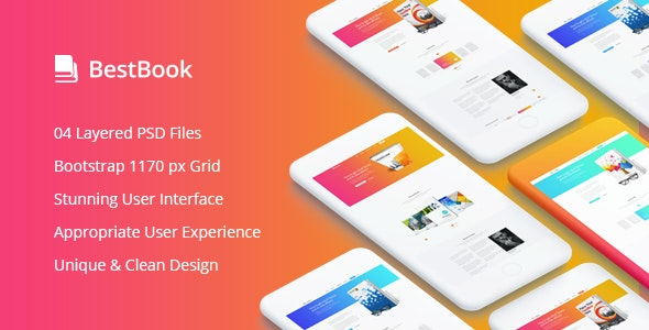 Bestbook - Book Author & Marketers Landing Page PSD Template - Marketing Corporate