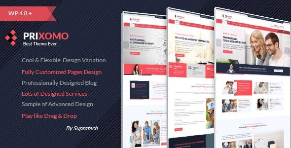 Prixomo - Corporate Responsive Multi-Purpose WordPress Theme - Business Corporate