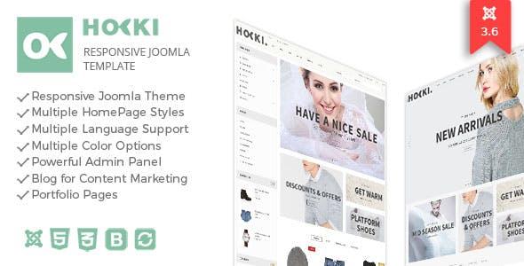 Hoki - Responsive Joomla Virtuemart Template