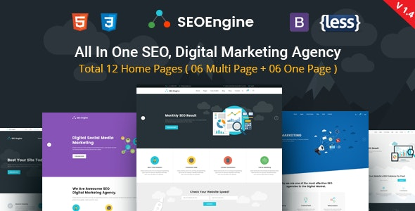 SEO Engine - Digital Marketing Agency HTML Template - Marketing Corporate