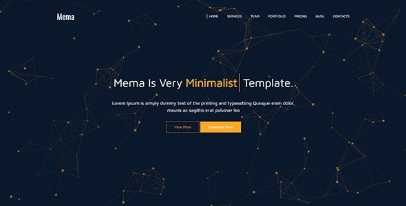 Mema || One Page HTML5 Template + RTL Version - Portfolio Creative