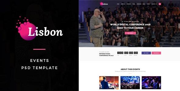 Lisbon : Events PSD Template - Events Entertainment