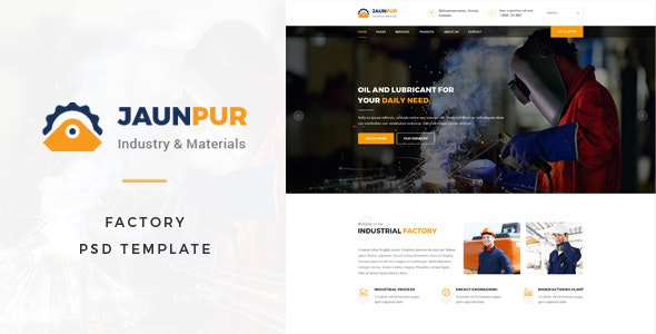 Janpur : Factory PSD Template - Business Corporate