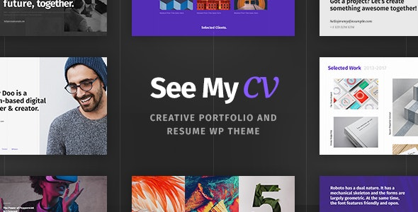 See My CV - Resume & vCard WordPress Theme - Portfolio Creative