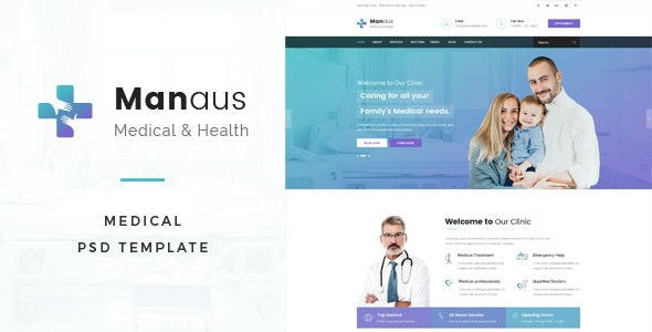 Manaus : Medical PSD Template - Business Corporate