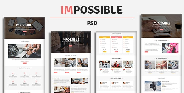IMPOSSIBLE - PSD Template - Business Corporate