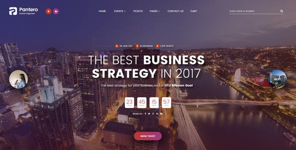 Pantero - Event & Conference PSD Template
