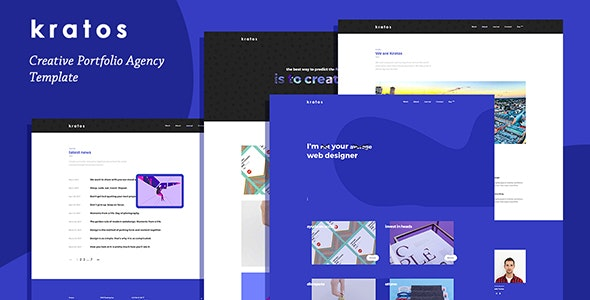 Kratos - Creative Portfolio Agency Template - Creative Site Templates