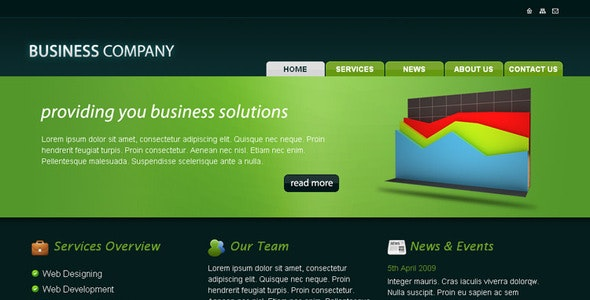 Business Company HTML Template - Business Corporate