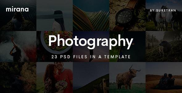 Mirana - Creative Photography PSD Template - Photography Creative