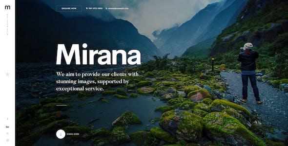 Mirana - Creative Photography PSD Template