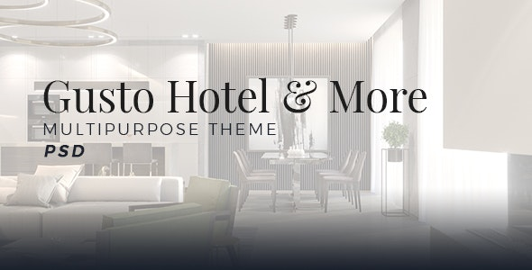 Gusto Hotel - Multipurpose - Creative Photoshop