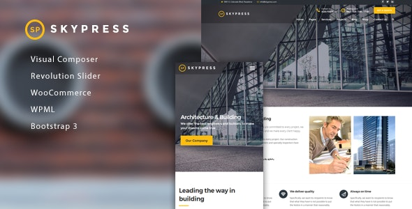 SkyPress - Building Construction WordPress Theme - Business Corporate