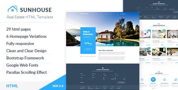 Real Estate HTML Template | SunHouse - Business Corporate