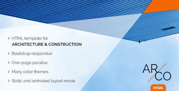 OnePage Architect Construction HTML Template | Arco - Business Corporate
