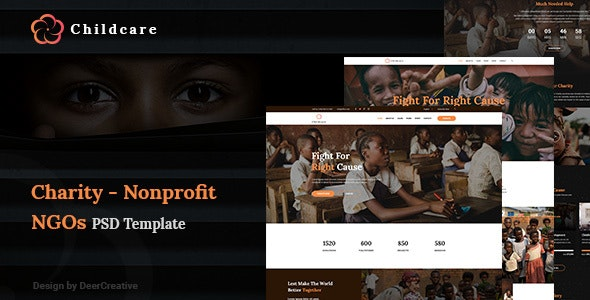 ChildCare | Non-Profit, Charity & Donations PSD Templates - Charity Nonprofit