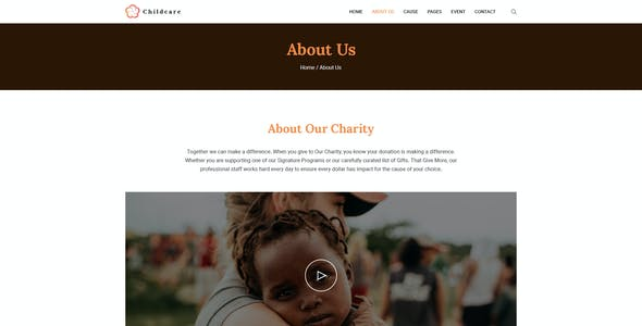 ChildCare   Non-Profit, Charity & Donations PSD Templates